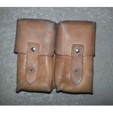 Usnjena torbica, 2 žepa, večja