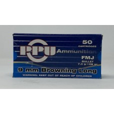 PPU 9 mm Brow. Long FMJ 7g/108gr