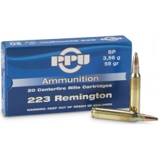 PPU .223 Remington FMJ BT 4,92g (75gr)