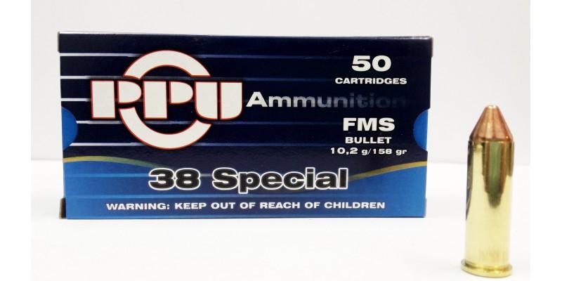 PPU .38 Spec 10.2g 158gr FMS