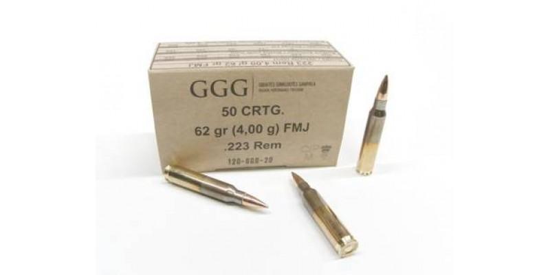G.G.G. .223 Remington 62gr FMJ (5,56x45)